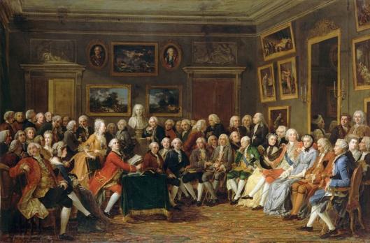 Lecture de la tragédie de « l'Orphelin de la Chine » de Voltaire dans le salon de madame Geoffrin, Anicet Lemonnier.